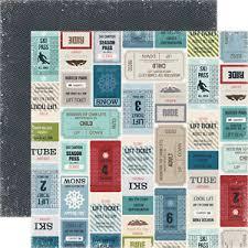 12x12 Scrapbook 2 Sheets Of Echo Park Winter Park 12x12 Scrapbook Paper Lift