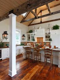 like floor and wall lights traditional kitchen open concept