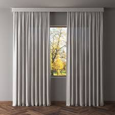 3d model gray blackout curtains cgtrader