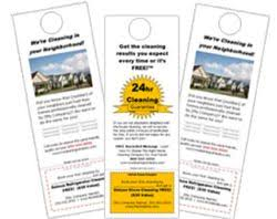 door hanger flyer template door hanger flyer templates for residential cleaning companies