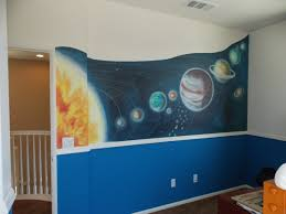 solar system mural fun outer space decor for a bedroom or nursery fun outer space decor for a bedroom or nursery