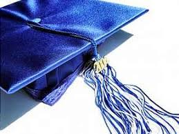 blue graduation cap cap and tassel