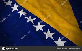 St Kitts Flag Grunge Flag Of Bosnia And Herzegovina Dirty Bosnian