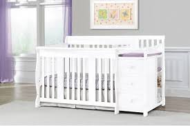 convertible crib with changing table attached best u2014 thebangups