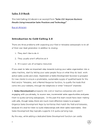 cold contact prospecting cover letter