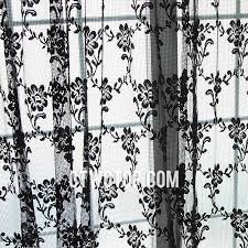 Shabby Chic White Curtains Chic Unique Black Modern Floral Patterned Sheer Curtains