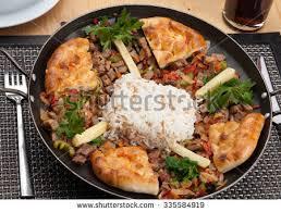 cuisine ottomane food ottoman food sac tava stock photo 335584919
