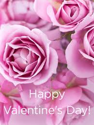 A Happy Valentine Will The by Filled With Pink Roses Happy Valentine U0027s Day Card Birthday