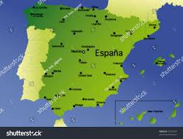 Maps Of Spain Detailed Vector Map Spain Stock Vector 37377274 Shutterstock