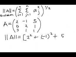 How To Calculate The Needed How To Calculate The Frobenius Norm Of A Matrix Youtube