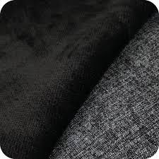 tissu canapé au mètre tissu d ameublement velours ras noir