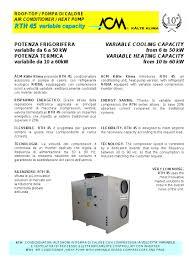 kalte k che air conditioner heat variable capacity acm