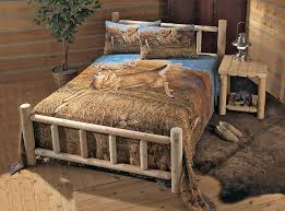 Rustic Bedroom Ideas Rustic California King Size Platform Bed Frame With Storage