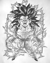 dbz gt character drawings dragonball gt black white goku ss4