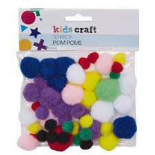 kids u0027 art u0026 craft pom poms 50 piece the warehouse
