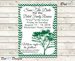 family reunion save the date or invitations chevron