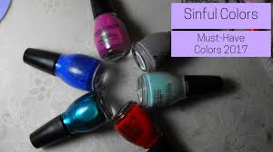 sinful colors must have shades 2017 review swatches youtube