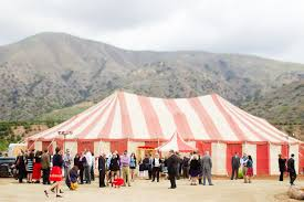 circus tent rental 1940 s vintage circus wedding party pleasers event rental co
