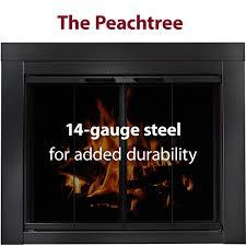 peachtree bi fold glass doors for masonry fireplaces brick anew
