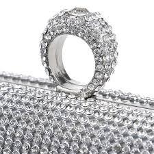 diamond studded clutch oluria