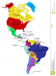 South America Map Labeled by Map Of N And S America America Map
