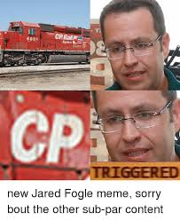 Jared Meme - 6001 system l triggered new jared fogle meme sorry bout the other
