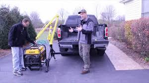 maxxtow portable hitch mounted pickup truck crane youtube