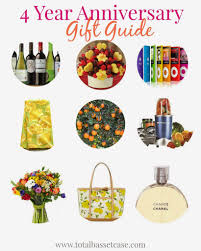 4 year anniversary gift for him total basset fruit flowers 4 year anniversary gift guide