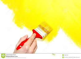 painting a wall painting a wall yellow stock photo image 35867800