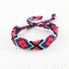 bracelet woven images Red blue and black woven bracelet macrame jewelry friendship jpg
