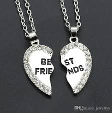 man accessories necklace images Wholesale man women jewelry crystal best friends necklace jpg