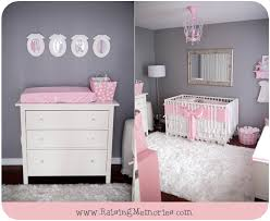 Pink And Grey Nursery Decor Raising Memories Pink And Gray Baby Nursery Pink