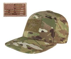 Uniform Flag Patch Multicam Camouflage Flat Bill Brim Baseball Cap Hat U0026 Attachable