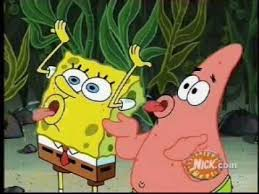 Patrick Moving Meme - spongebob and patrick praise the magic conch while i play slighty