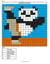 po kung fu panda color number coloring squared