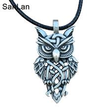 owl vintage necklace images Sanlan brand celtic owl necklace vintage owl pendant in pendant jpg