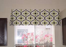 hall window valances with brown wall design and grey ceramic