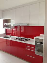 22 ideas to create stunning red and white kitchen design red