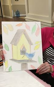color or paint assisted living art class update connie gochenaur