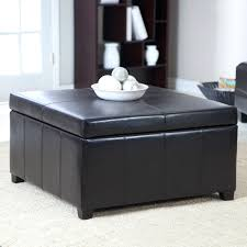 Narrow Ottoman Ottoman Popular Black Square Modern Leather Ottoman Storage