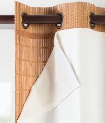 Thermal Liner For Curtains Bamboo Grove Thermal Liner Panel For Grommet Top Panel Country