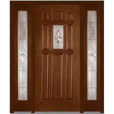 fiberglass front doors with glass mmi door 64 in x 80 in heirloom master right hand center lite 8