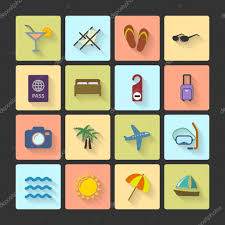 ui layout vacation ui layout icons squared shadows stock vector