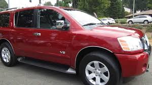 2005 nissan armada engine for sale 2005 nissan armada red brawn stock 13838a walk around youtube