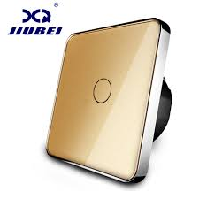 touch screen wall light switch free shipping jiubei new type touch switch golden color 220 250v