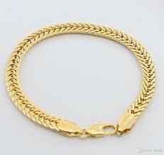 bracelet for men jewelry cuban link bracelet for women men18k yellow gold