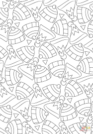 hats pattern coloring page free printable coloring pages