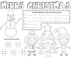 christmas placemats free printable christmas games kids