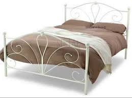 Iron Single Bed Frame White Metal Single Bed Frame With Mattress