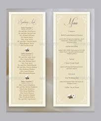 27 wedding menu templates u2013 free sample example format download
